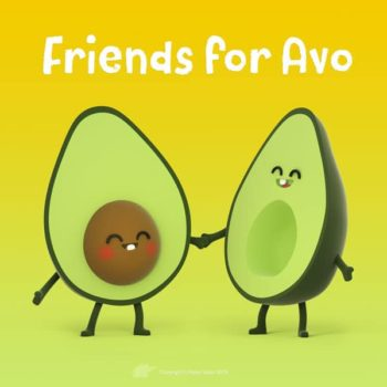Friends for Avo 3D avacados avacado half halves