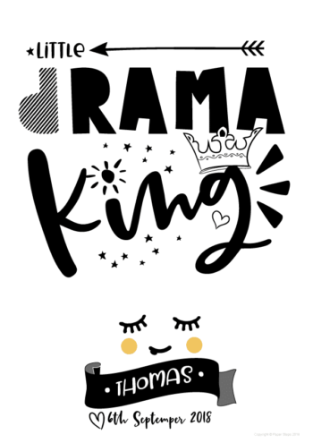 Drama king A size art print