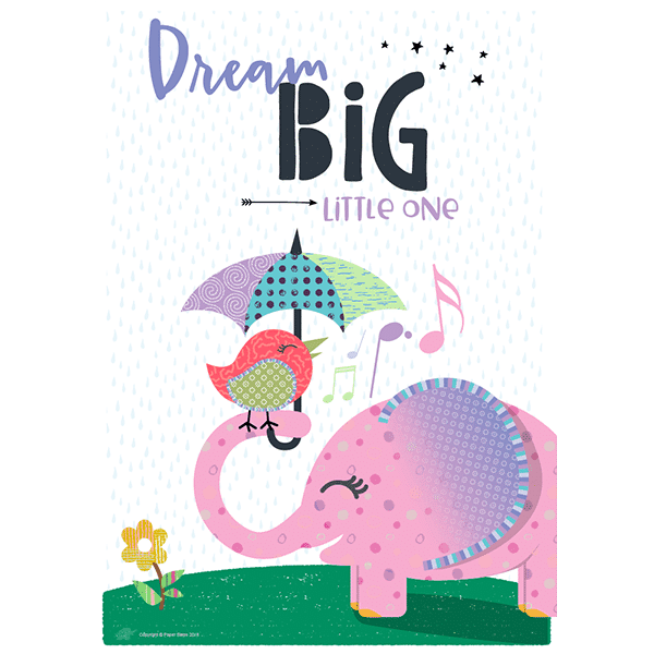 Dream big little one nursery quote art print