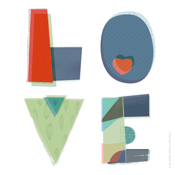 LOVE word nursery art print