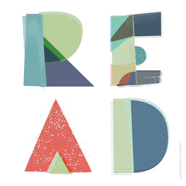 READ letters kids wall print